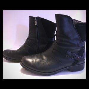 Teva Del La Vina Low Black Moto Boots W 8.5